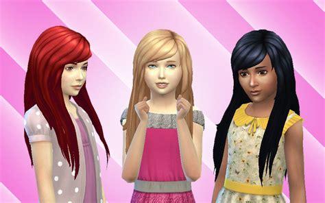 sims 4 mod long child hair mystufforigin cute hair for girls sims 4 hairs http