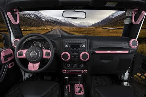 pink jeep interior amazon com opar pink door hinge cover for 2007 2018 jeep