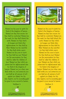 printable beatitudes bookmarks beatitudes freebies homeschool printable bookmarks
