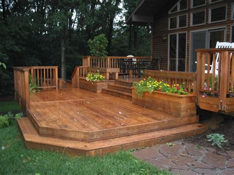 ground level deck home pinterest