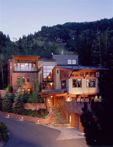 modern mountain homes luxury mountain home flashing mid century modern day