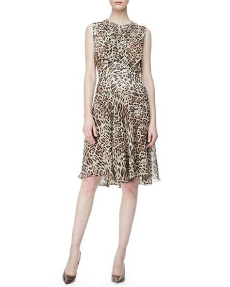 Leopard Chiffon Dress l agence leopard print chiffon dress
