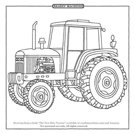 johnny tractor coloring page collection of tractor coloring pages page prints and
