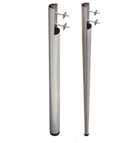 piedi per tavolo gambe spaccate in metallo per tavoli