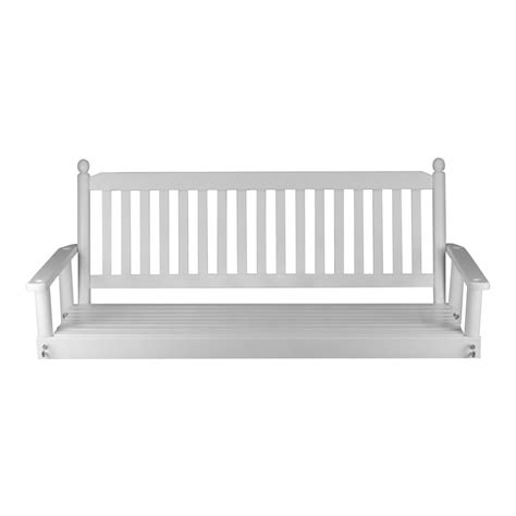 white patio swing white 5 ft patio swing 205psw rta the home depot