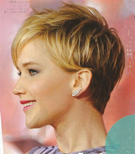 is jennifer lawrence hair cut above ears or just tucked behind short haircuts women over 60 front and back short