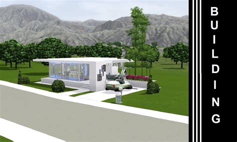Modern Tiny Home by The Sims 3 Into The Future Building A House Small