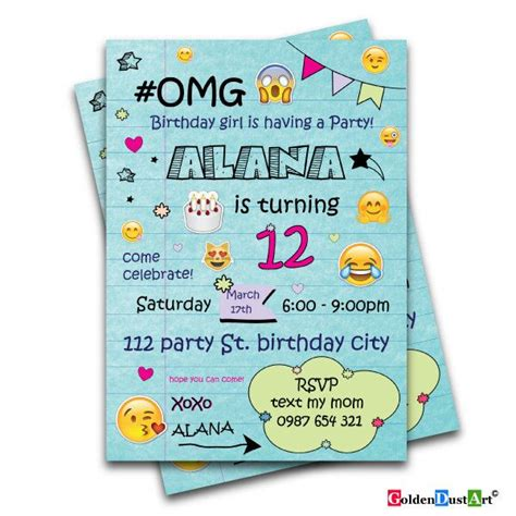 17 best ideas about teen birthday invitations on pinterest