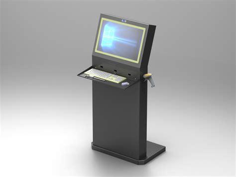 console per pc console porta computer arredamenti metallici