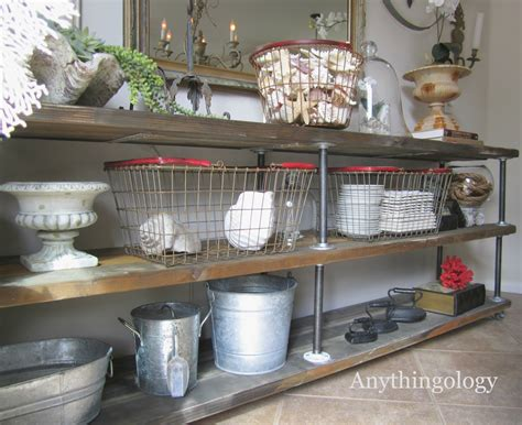tin home decor anythingology diy industrial shelves