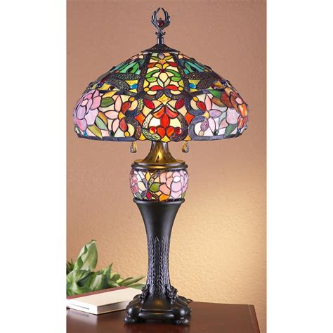 stained glass desk l j j peng 174 stained glass tiffany style table l