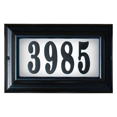 qualarc edgewood large aluminum lighted address plaque ltl