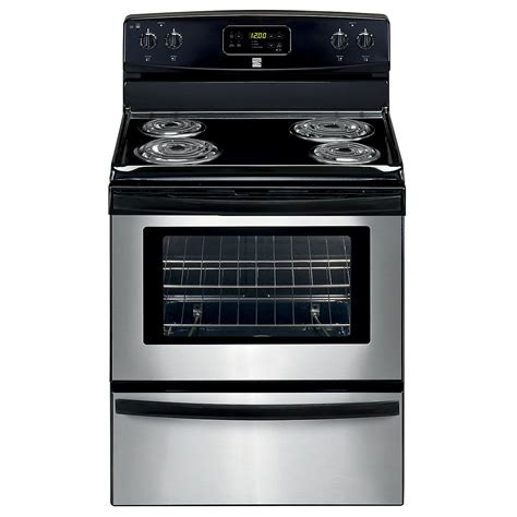 Who Makes Kenmore Cooktops kenmore 90213 5 3 cu ft electric range stainless