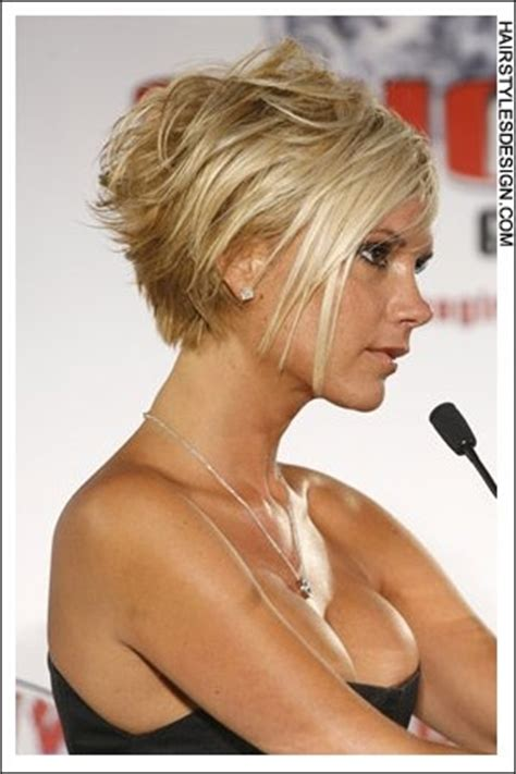 victoria beckham short hairstyles back and front pixie haircut back view
