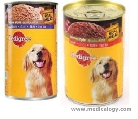 Makanan Anjing Pedigree Beef 10 0 jual pedigree chicken beef 1 15kg makanan anjing basah kalengan dogfood murah