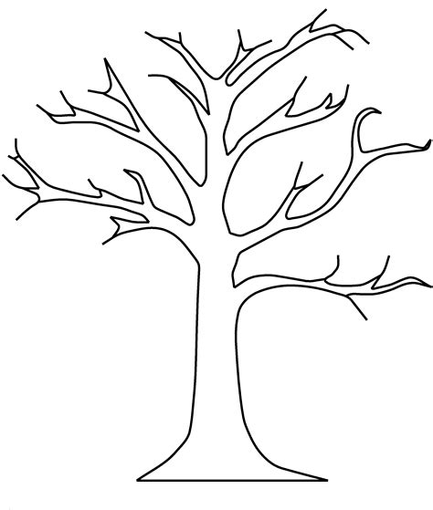 coloring pages tree trunk apple tree template dgn apple tree without leaves