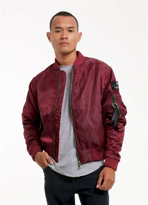 buy original w essentiels maroon fox blood charaix bomber jacket at indonesia bobobobo