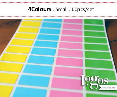 Label Nama Sticker Nama Waterproof Anti Air jual colourful sticker small label nama waterproof stiker