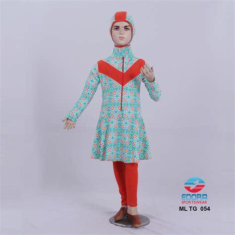 Baju Renang Muslimah Anak Cewek Sd Motif baju renang anak muslimah ml tg 054 distributor dan toko jual baju renang celana alat selam