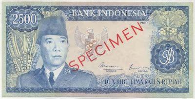 uang seri sukarno tahun 1960 uang kuno barang antik