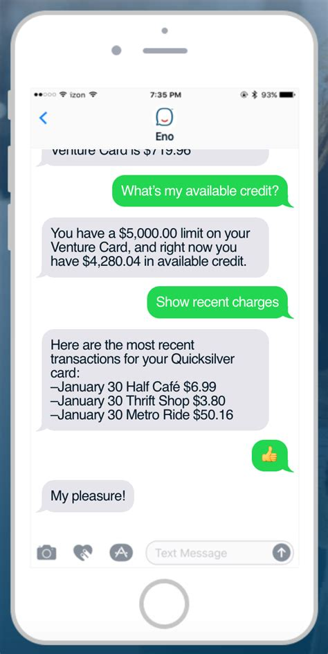 chat text rooms capital one launches sms chatbot eno fintech futures