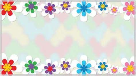 spring flower border  background choice