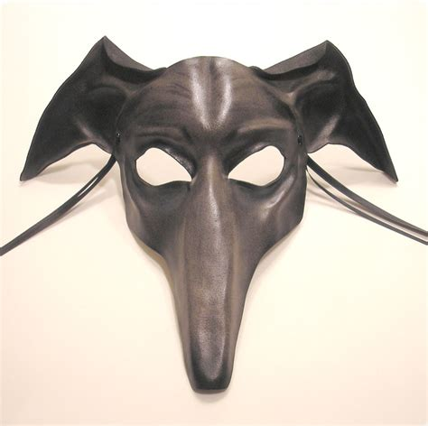 leather puppy mask greyhound leather mask grey by teonova on deviantart