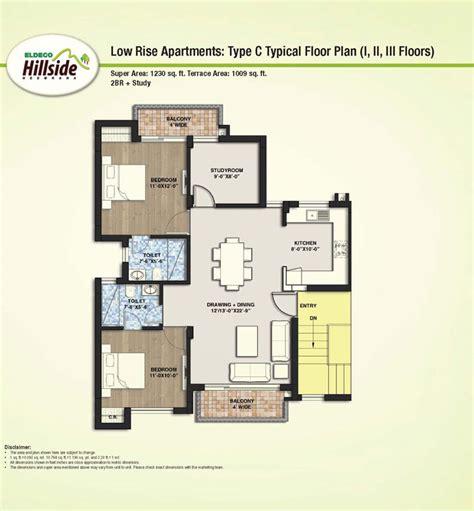 typical floor plans of apartments eldeco hillside