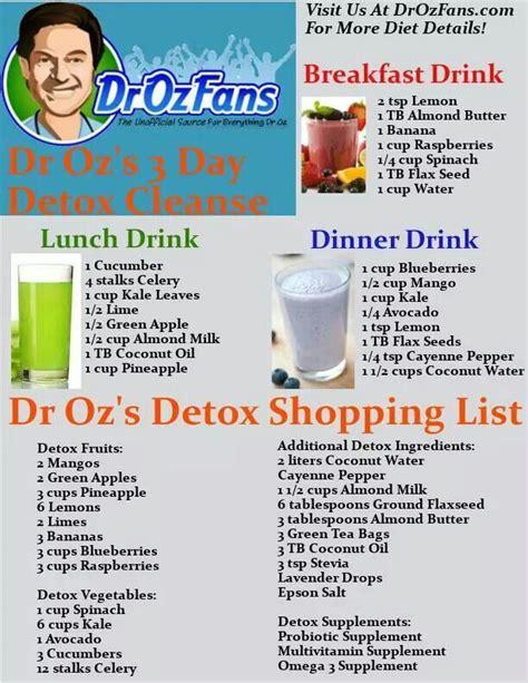 Dr Oz Morning Detox Smoothie by Dr Oz Detox Daniel Plan