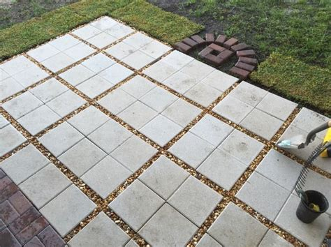 Sand For Patio Pavers Almost Done Paver Patio Diy 12x12 Pavers With Gravel Between Outdoor Home Pinterest
