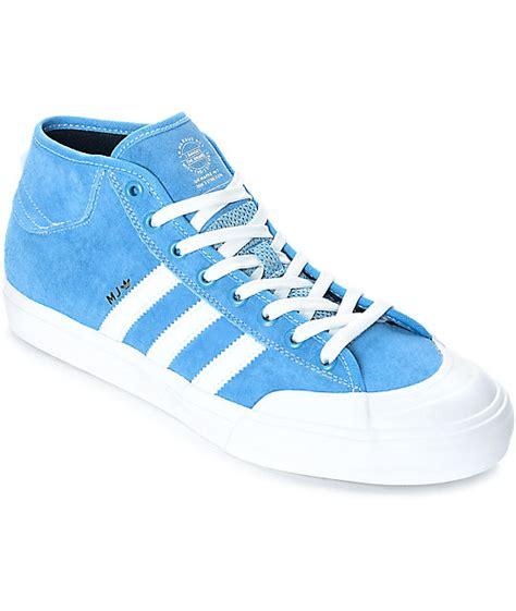 adidas matchcourt mid mj blue white shoes zumiez