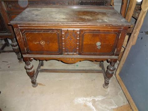Antique Dining Room Buffet Antique Dining Room Set Detailed China Cabinet Buffet Side Table 6 Matching Chairs