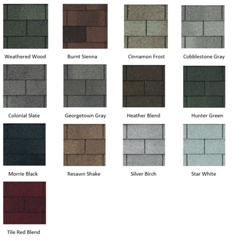 certainteed shingles colors chart certainteed shingle colors landmark xt25 shingle