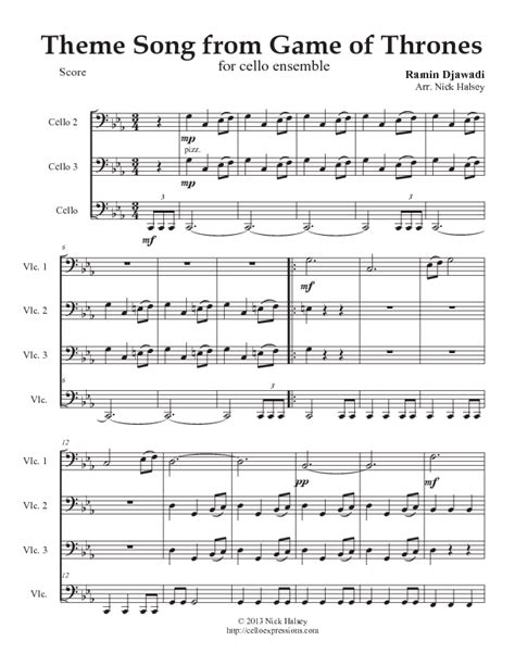 theme song game of thrones cello sheet music free pop songs 1000 images about sheet