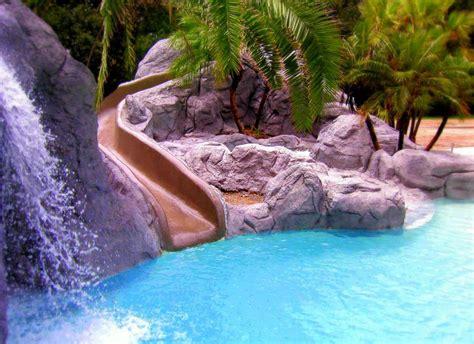 Backyard Pools With Rock Slides Swimming Pool Photos Of Swimming Pool Slides