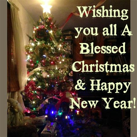 wishing    blessed christmas happy  year
