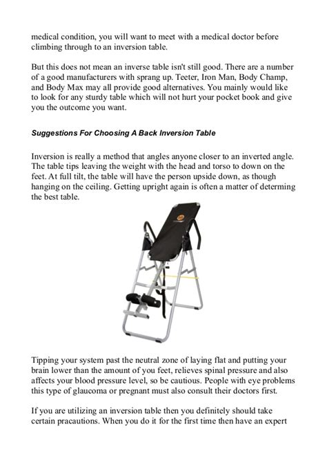 benefits of inversion table benefits of inversion tables