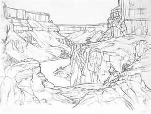 Canyon Drawing Pages From My Sketchbook sketch template