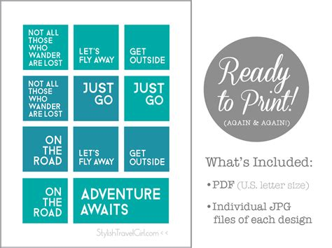 printable travel quotes free travel quote printables 1st edition exclusively on