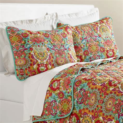 Reversible Quilt Bettina Floral Reversible Quilt World Market