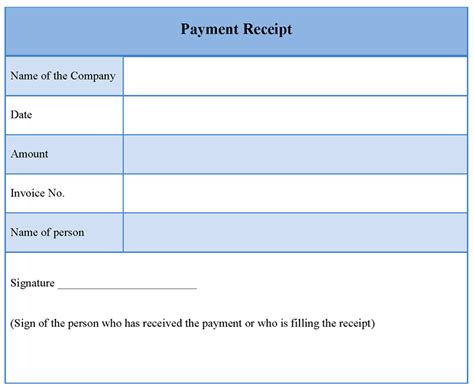 payment receipt template easy receipt making