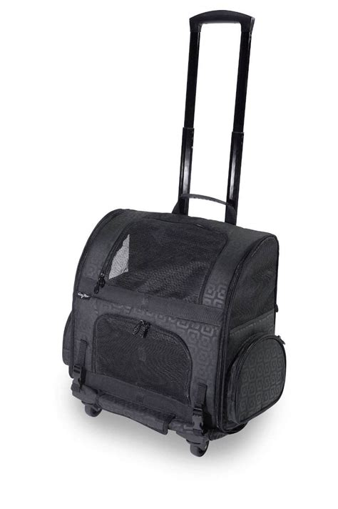 rolling carrier carrier pet rolling carrier backpack back pack crate for dogs up to 10 lbs