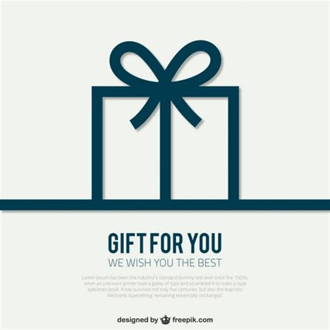 gift card package template card template with gift box vector free