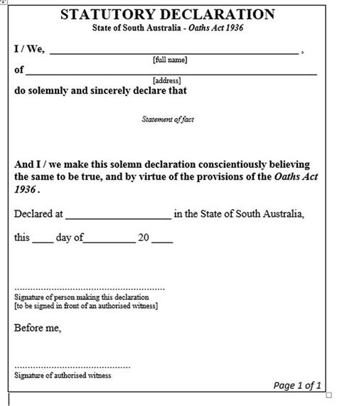 statutory declaration template 1000 images about justice of the peace south australia on