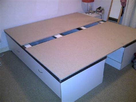how to make your bed higher home dzine home diy how to make a storage base for a bed