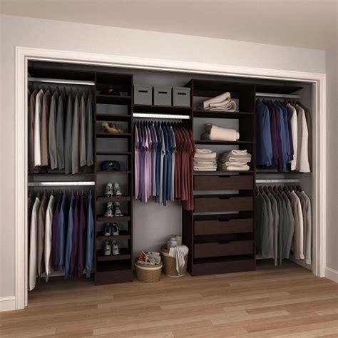 wall mount wood closet systems wood closet organizers