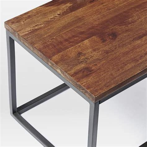 Box Frame Coffee Table Box Frame Coffee Table Wood Antique Bronze West Elm