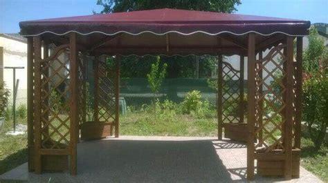 tetto gazebo gazebo in legno con tetto in pvc amalegno