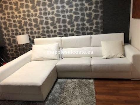sofa blanco polipiel sofa chaiselongue blanco de polipiel cod 24051 segunda