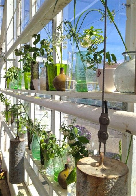 Window Sill Greenhouse Inspiration Rosendals Tr 228 Dg 229 Rd Tingelings Category Vessels Vases Glass Branches Mitt